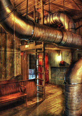 Steampunk - Where The Pipes Go Art Print by Mike Savad