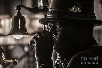 Copper Bracelet Photograph - Steampunkd by Runaldo Ferre
