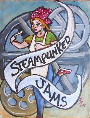 Steampunked Jams Art Print by Loretta Nash