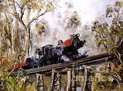 Painting - Steamrail by Ryn Shell