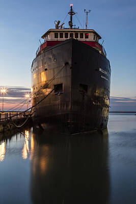 Photograph - Steamship In Cleveland  by John McGraw