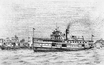 Steamship Nobska Art Print