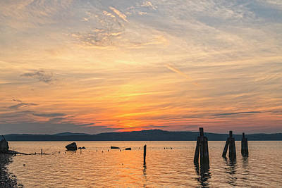 Photograph - Steamy Hudson River Sunrise by Angelo Marcialis