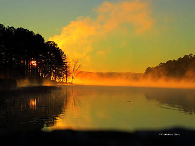 Steamy Sunrise Art Print