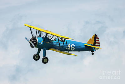 Stunt Flyer Photograph - Stearman Blue On Blue by Joann Long