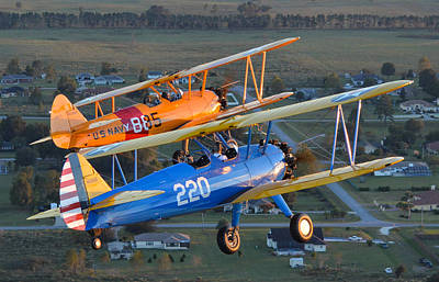 Stearman Formation Art Print by Matt Abrams