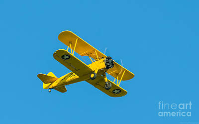 Photograph - Stearman Model 75 Wwii Biplane by Jeff at JSJ Photography