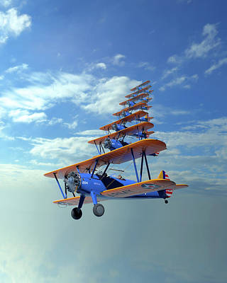 Trainer Digital Art - Stearman Stack by Hangar B Productions