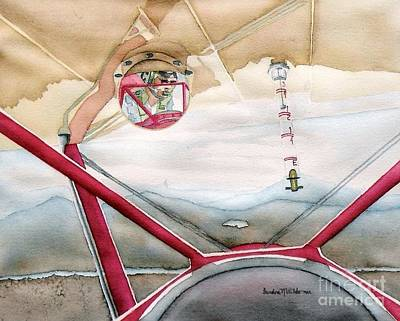 Cockpit Painting - Stearman View by Sandra Neumann Wilderman
