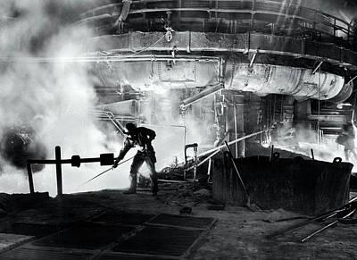 Steel Blast Furnace Slag Raker  1951 Print by Daniel Hagerman