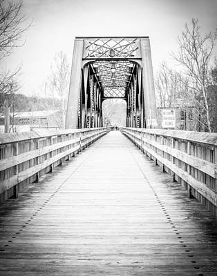 Photograph - Steel Bridge - Collinsville, Ct by Brian Caldwell