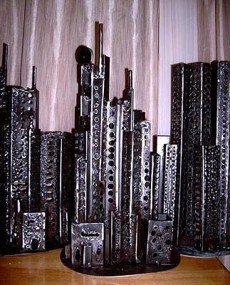 Sculpture - Steel Buildings by Don Thibodeaux