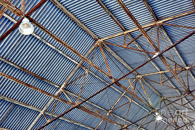 Photograph - Steel Ceiling by Olivier Le Queinec