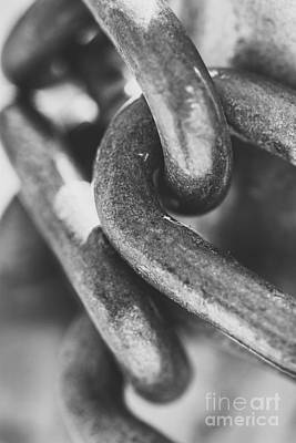 Steel Chain Link Art Print by Jorgo Photography - Wall Art Gallery
