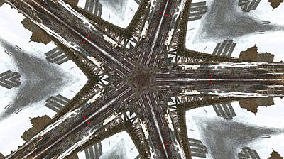 Digital Art - Steel City Fractal by Joyce Wasser