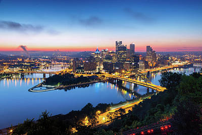 Photograph - Steel City Sunrise by Stephen Stookey
