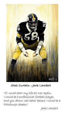 Football Painting - Steel Curtain -lambert Quote by William Walts
