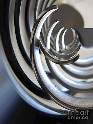 Tableware Photograph - Steel Curves by Kelly Holm