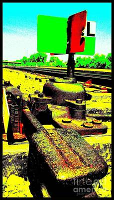 Art Print featuring the photograph Steel Diesel Track Signal by Peter Gumaer Ogden