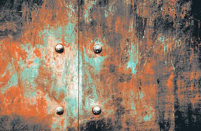 Rivets Mixed Media - Steel Door by Shay Culligan
