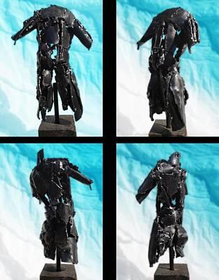 Sculpture - steel ED torso by Don Thibodeaux