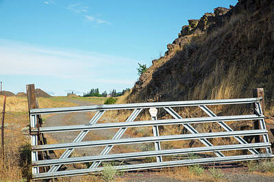 Photograph - Steel Gate And Gravel Road by Tom Cochran