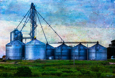 Photograph - Steel Grain Silos by Anna Louise