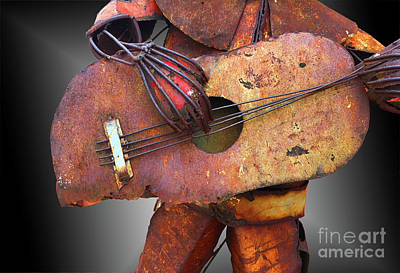 Photograph - Steel Guitar - Or - Too Many Fingers And Not Enough Strings by Tim Hightower