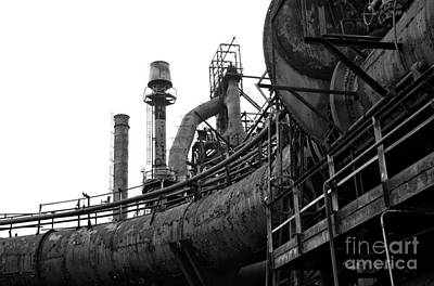 Photograph - Steel Mill Design by John Rizzuto