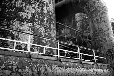 Photograph - Steel Mill Platform by John Rizzuto