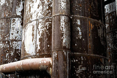 Photograph - Steel Mill Up Close by John Rizzuto