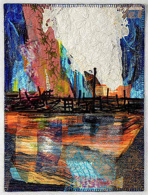Tapestry - Textile - Steel Mills At Night by Martha Ressler