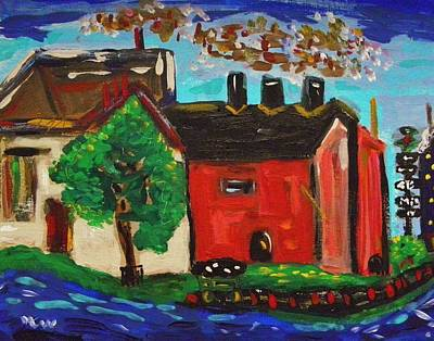 Painting - Steel Mills Built Near Deep Water by Mary Carol Williams