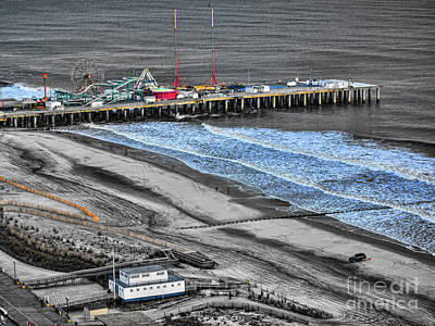 Photograph - Steel Pier Amusement Park Atlantic City Nj by Chuck Kuhn