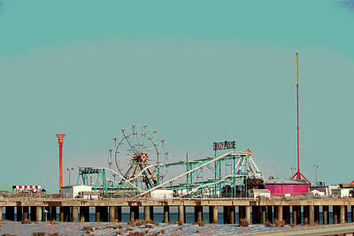 Photograph - Steel Pier Amusements Poster by Margie Avellino