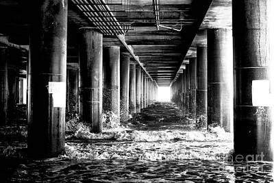 Photograph - Steel Pier Light by John Rizzuto