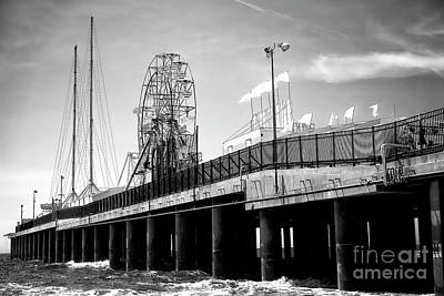 Photograph - Steel Pier Study by John Rizzuto