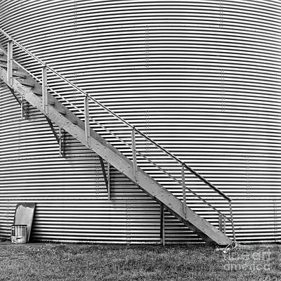 Photograph - Steel Silo by Patrick M Lynch