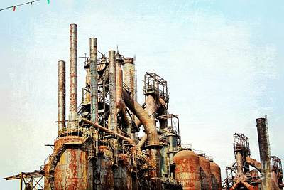 Photograph - Steel Stack Blast Furnaces by Beth Ferris Sale