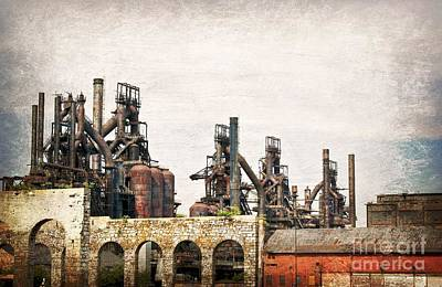 Steel Stacks  Art Print