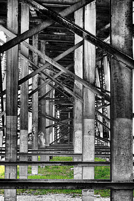 Photograph - Steel Support by Rudy Umans
