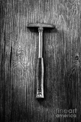 Photograph - Steel Tack Hammer II On Plywood 74 In Bw by YoPedro