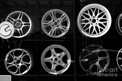 Photograph - Steel Wheels Black And White by Charline Xia