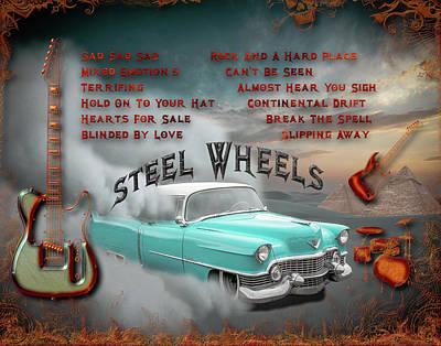 Digital Art - Steel Wheels by Michael Damiani