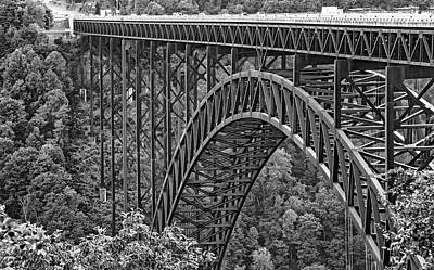 New River Gorge Bridge Photograph - Steel Wonder 4 Bw by Steve Harrington
