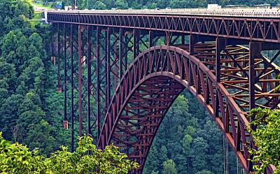 New River Gorge Bridge Photograph - Steel Wonder 4 by Steve Harrington
