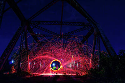 Photograph - Steel Wool Spinner by Kenny Thomas