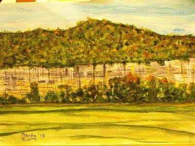 Painting - Steele Creek Cliffs by Larry Farris
