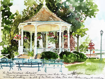 Steele Painting - Steele Memorial Bandstand by Maryann Boysen