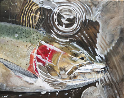 Painting - Steelhead Ripple by Sara Stevenson